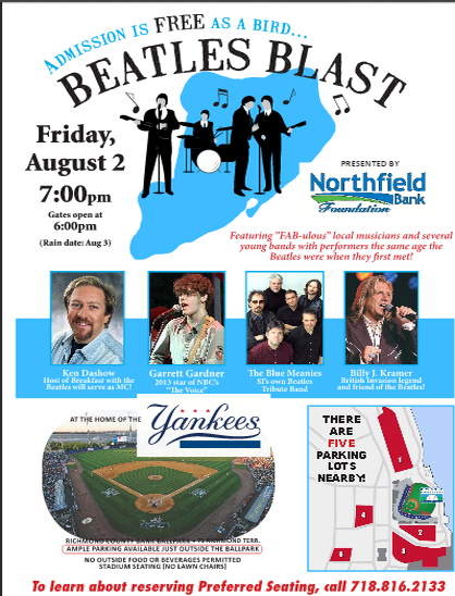 Second annual Beatles Blast concert & Saint George's Festival